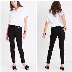 "Madewel 9"" mid rise isko stay black skinny jeans"